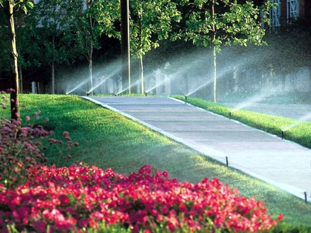 Maintenance of irrigation systems in the park and other areas