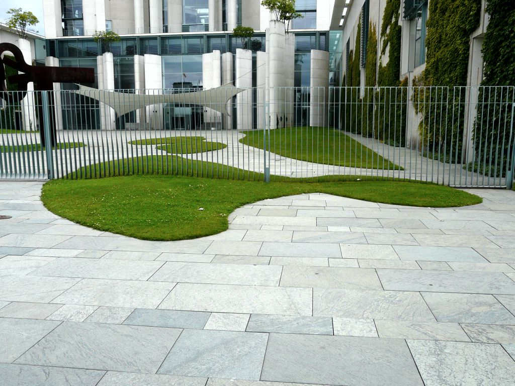 Modern concept of greenery in the clean lines of an urban building