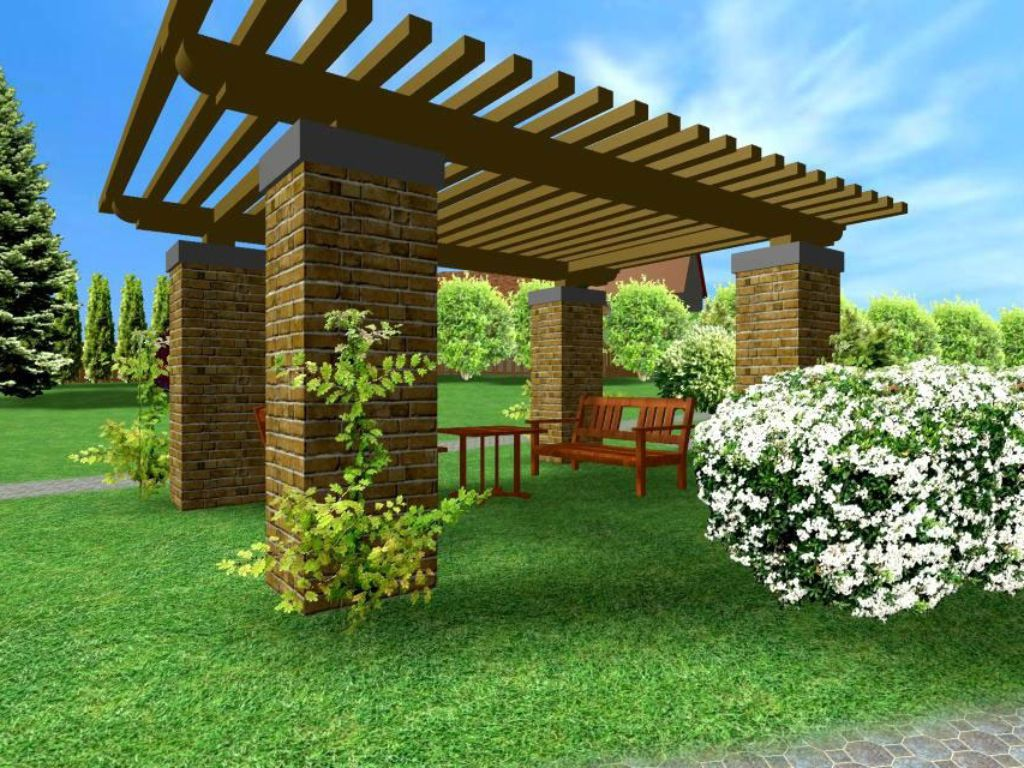 Design of a pergola to rest in the park