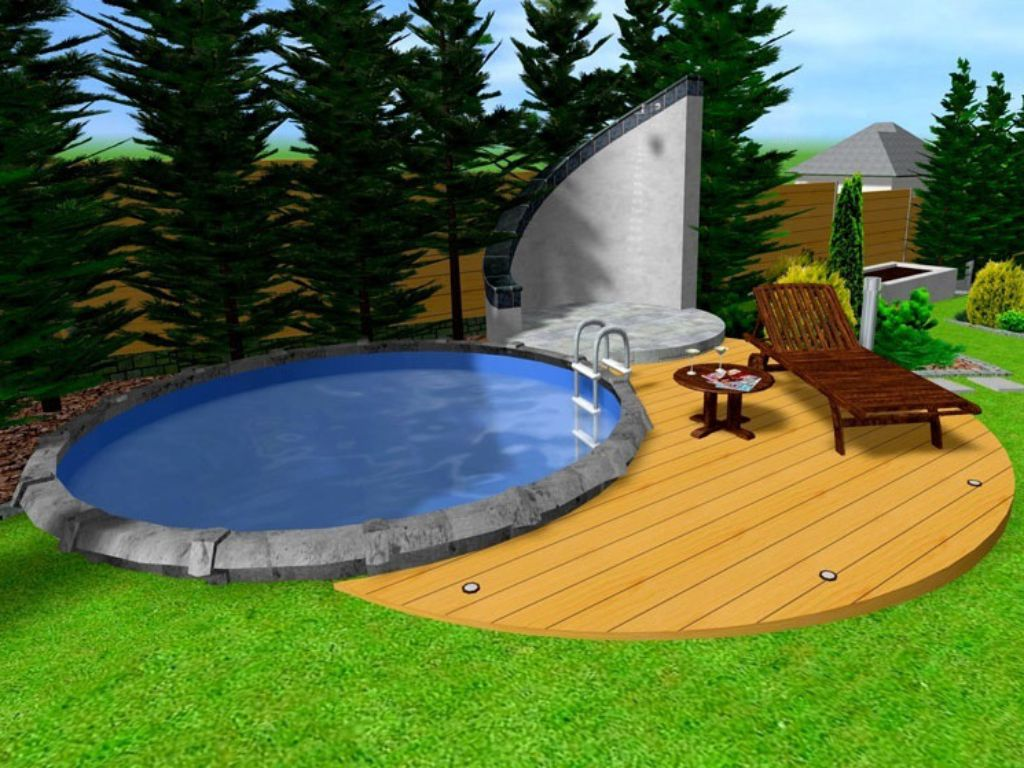 Pool area with terrace and shower