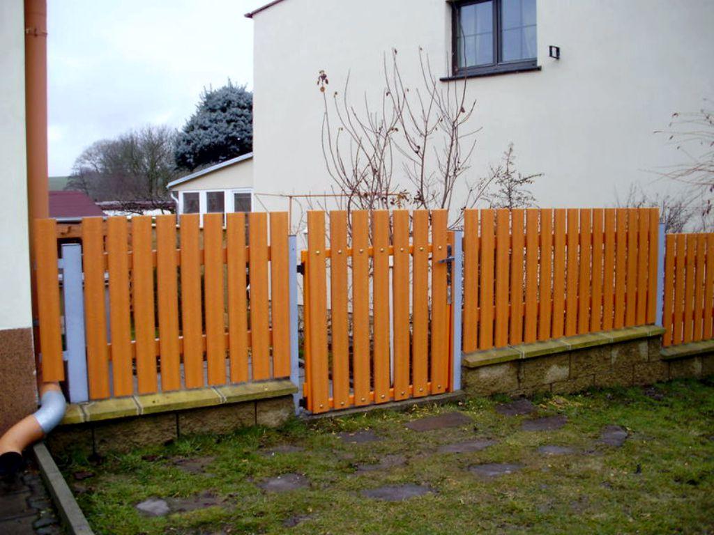 Garden fencing in pine shade