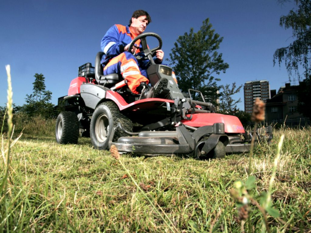 Regular mowing of grassy areas with cleaning
