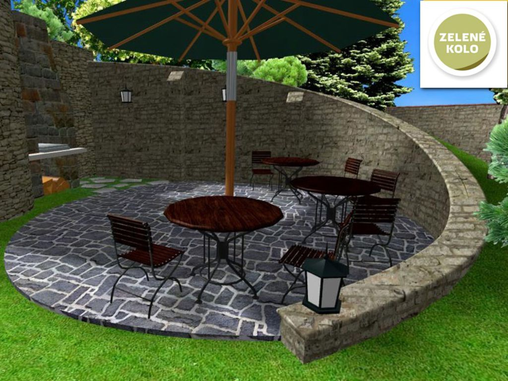 Technical design of retaining walls and seating