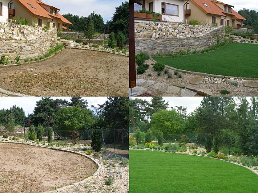 Changing the garden after laying the grass carpet