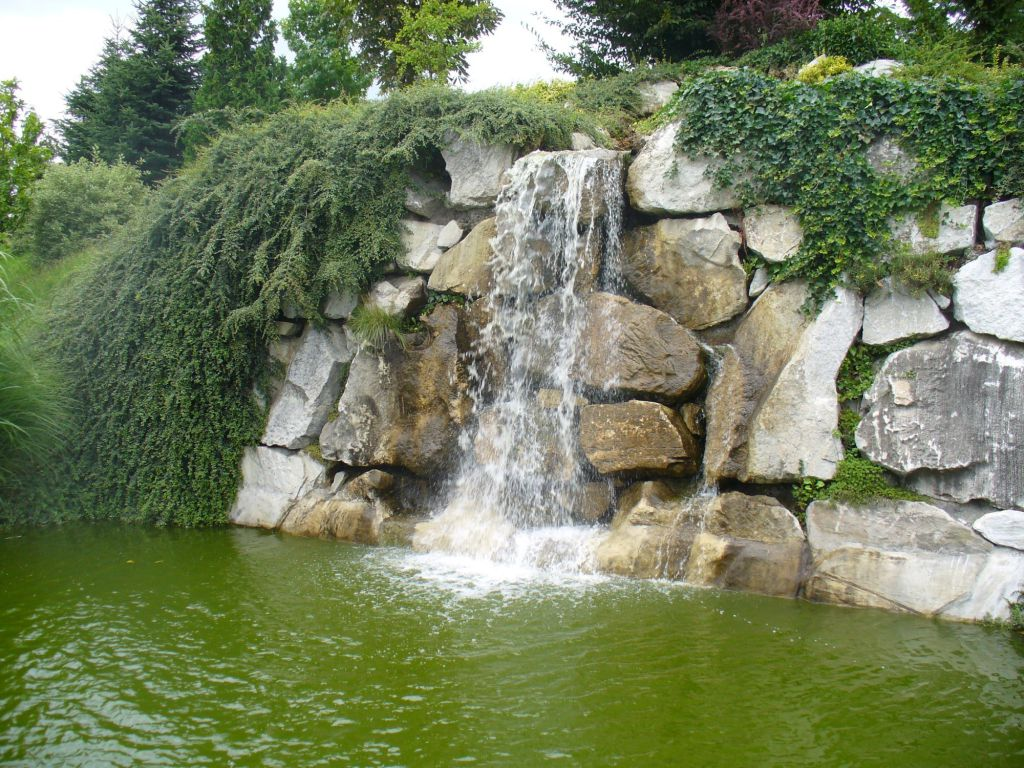 Sound and impressive waterfall at the biotope