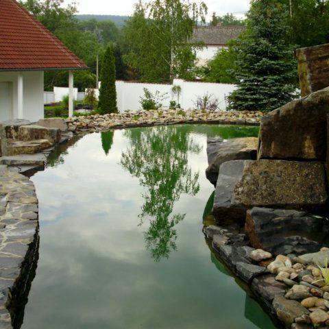 Upper bathing lake in Teplice