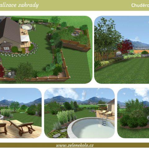 3D visualization of a garden