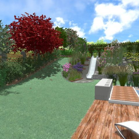 Solve the slope in the garden or yard with a slide