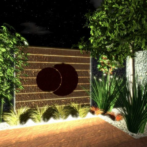 Lighting in the garden - Corten as a design and functional element